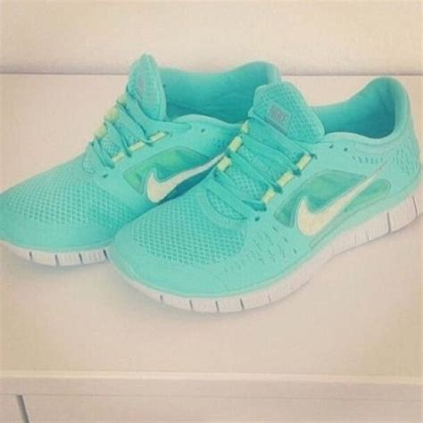 mint green nike sneakers shoes nike running shoes mint green shoes wheretoget