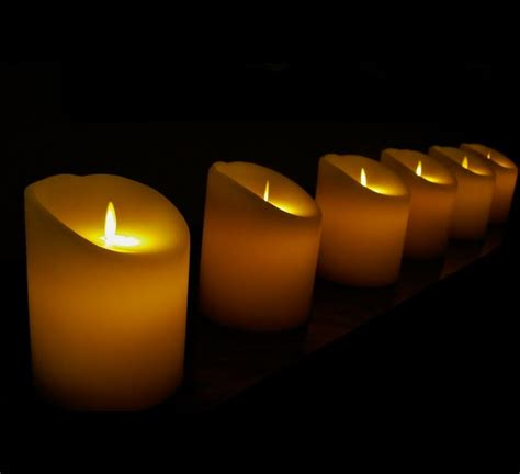 candele senza fiamma candela elettromagnetica piccola candele senza fiamma ed