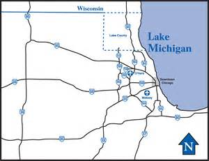 chicago highway map illinois highway map illinois usa mappery