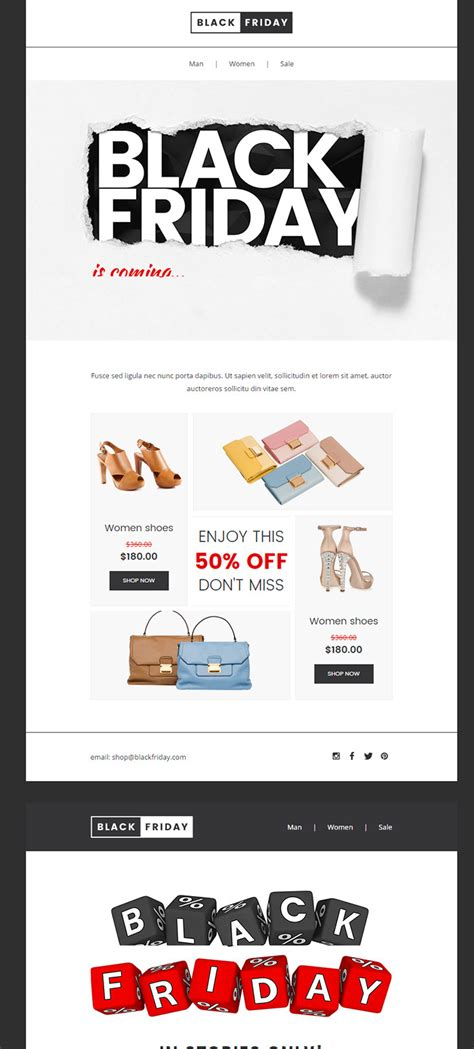 Black Friday Email Template The Best Black Friday Email Template To Increase Black Friday 2016 Sales
