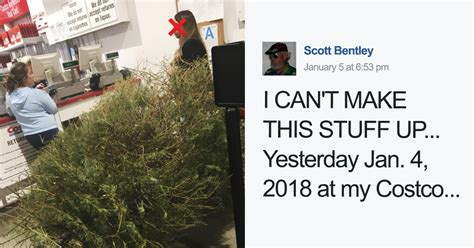 woman returns a christmas tree on january 4th because it