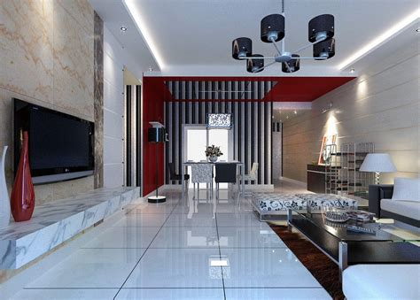 3d interior design images of dining living room