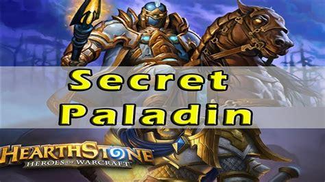 Legendary Paladin Deck by Hearthstone Legend Secret Paladin Deck Decklist
