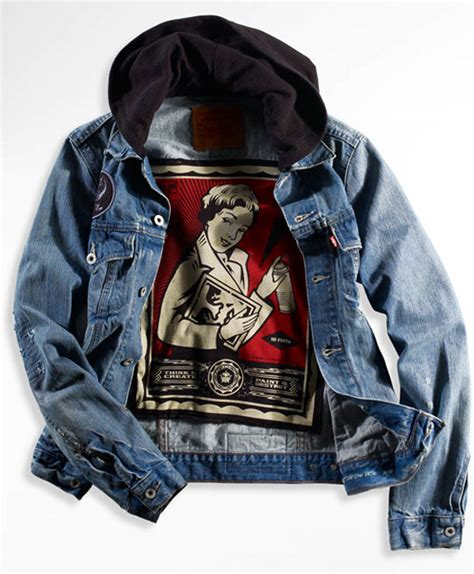 designboom jacket shepard fairey obey collaboration with levis 174