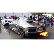 Chrome Lamborghini Aventador LP700 4 Shooting Flames
