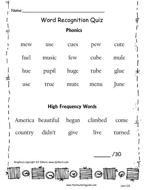 5 Letter Words Quiz phonics worksheets for second grade lesupercoin