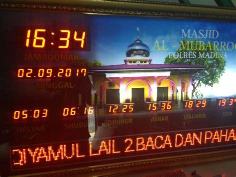 Lu Led Di Medan jual jam digital masjid di medan