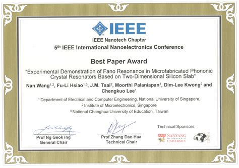 international conference certificate templates of chengkuo awards