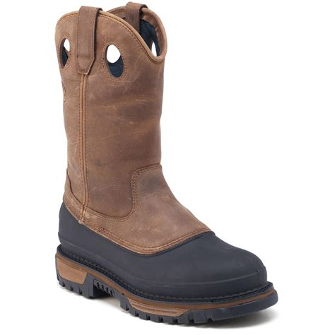 pull on work boots s 11 quot rocky 174 aztec pull on work boots 186735 work