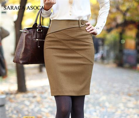 Camel Winter Skirt Y823 aliexpress buy fashion s winter slim hip knee length pencil skirt camel black color