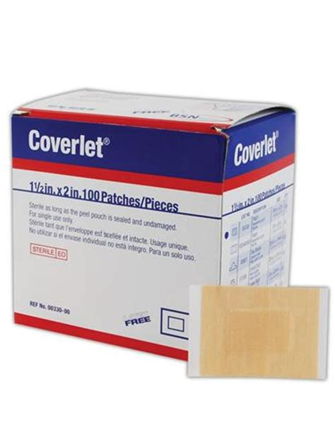 coverlet adhesive dressing latex free bsn coverlet small patch adhesive lightweight fabric