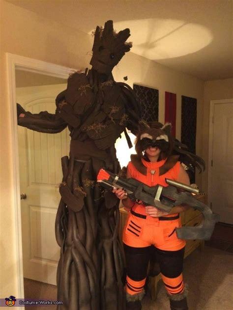 groot  rocket couples halloween costume original diy