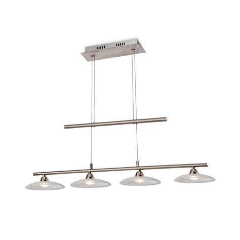 Clearance Pendant Lighting Firstlight 2304bs Nassau Led 4 Light Brushed Steel Pendant Lighting Clearance