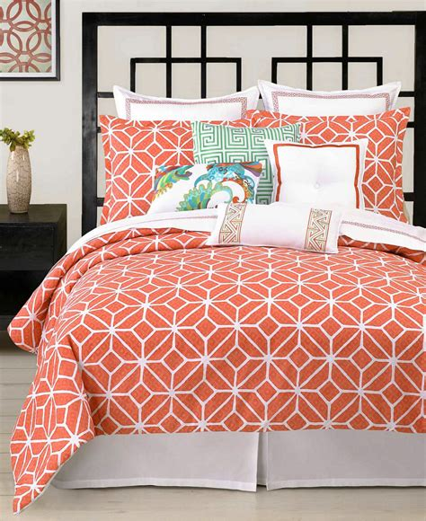 coral queen bedding trina turk trellis coral queen comforter set