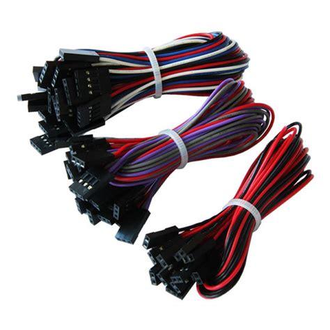 1 vs 2 jumper cable 70cm 10pcs 2pin 3pin 4pin jumper wires