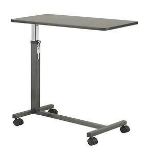 bed table hospital medical adjustable bedside serving stand laptop cart tv ebay
