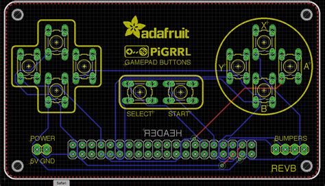 pcb layout game gpio trying to use pigrrl 2 0 custom gamepad pcb but