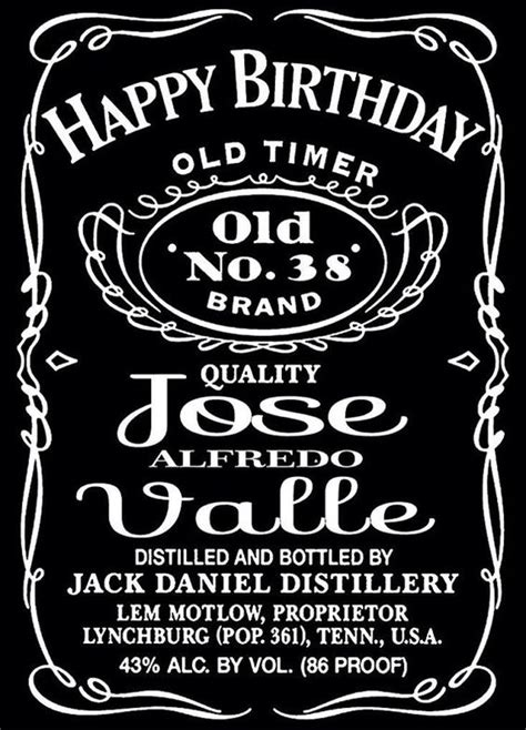 jack daniels liquor bottle label design vinyl wall mural
