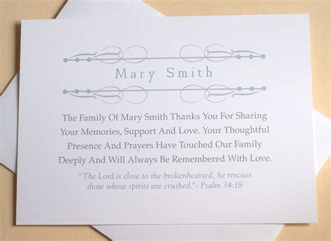 Religious Thank You Note To Religious Sympathy Thank You Cards Personalized Flat