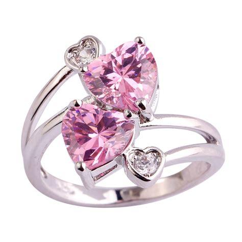 lingmei free shipping pink white aaa cz