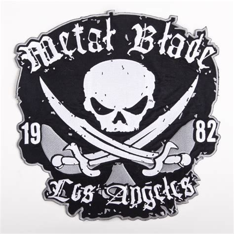 Metal Blade Records metal blade records quot pirate logo backpatch deluxe quot patch