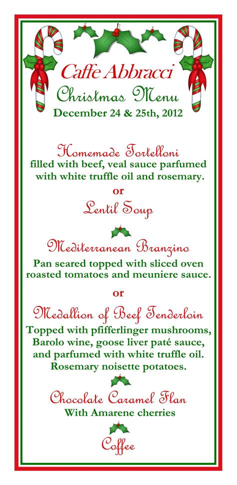 christmas lunch menu planner new calendar template site