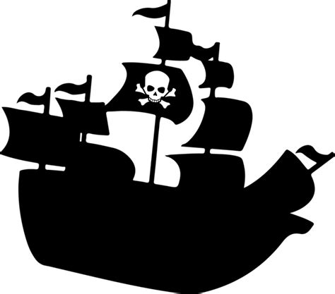 pirate ship clip boat crossbones pirate 183 free vector graphic on pixabay