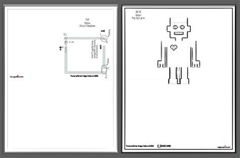 led card template led robot pop up card learn sparkfun