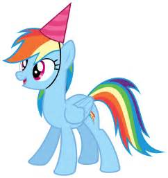 Rainbow dash with a party hat vector by missbeigepony on deviantart