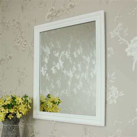 white shabby chic mirror white wooden wall mirror shabby vintage chic bathroom