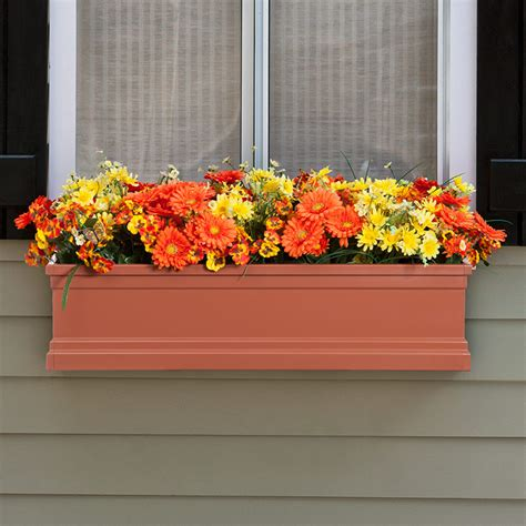 fiberglass window boxes supreme flowerbox terra cotta supreme fiberglass window box