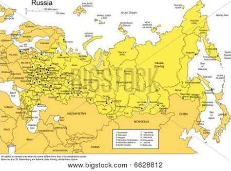 russia map and surrounding countries russia with administrative districts and surrounding