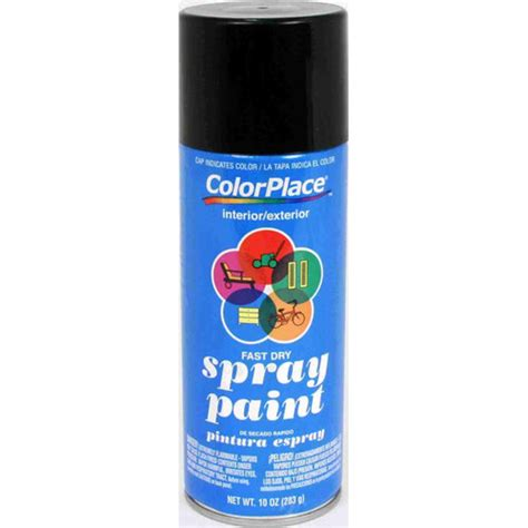 colorplace flat spray paint black other home improvement walmart