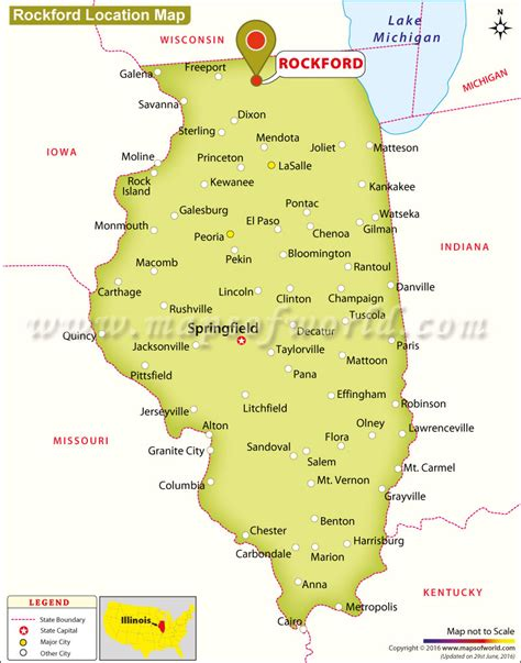 rockford usa map where is rockford located in illinois usa