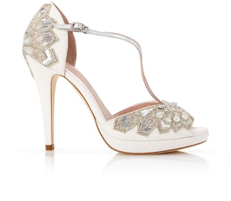 Designer White Wedding Shoes by Bridal Shoes Beautiful Designer Wedding Shoes Emmy