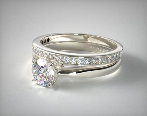 Wedding Bands To Pair With Solitaire by 1101014051w 18k White Gold 2 2mm Wire Basket Solitaire