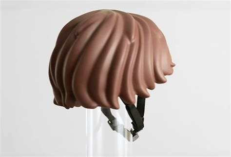 helmet hair cycling lego shaped safety gear literally gives you helmet hair