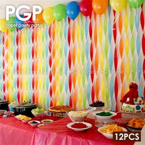 Streamer Chandelier Aliexpress Com Buy Pgp Rainbow Crepe Paper Streamers