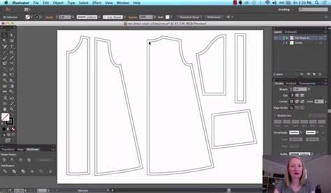 adobe illustrator lock pattern digital pattern drafting sewing blog burdastyle com