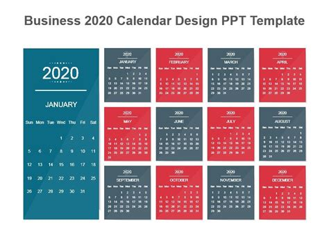 business  calendar design  template powerpoint shapes powerpoint  deck template