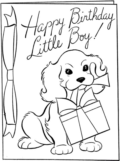 Free Printable Happy Birthday Cards To Color