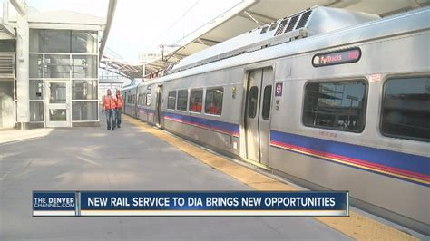 denver light rail stops rtd light rail service to dia brings opportunities