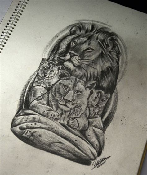 lion family tattoo gallery lion family tattoo sketch drawings and sketches 2016