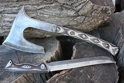 custom handmade fof machetes swords axes kukris by