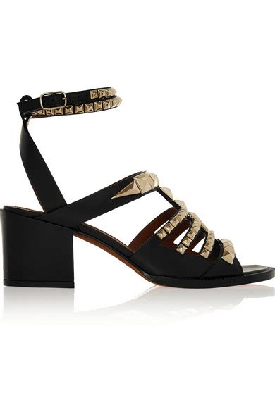 givenchy studded sandals givenchy sandals in studded black leather net a porter