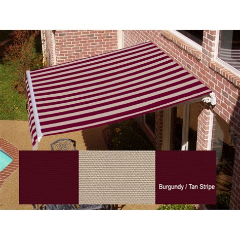 manual awnings beauty mark 174 maui 174 lx manual retractable awning burgundy
