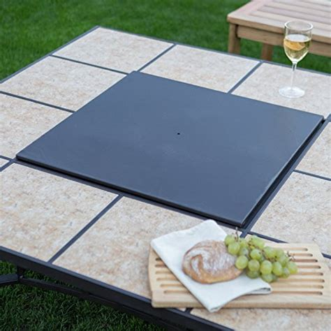 convertible pit table ember wheatland 50 in outdoor square tile convertible