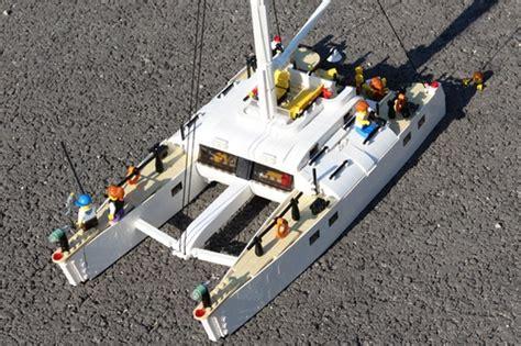 lego catamaran hull catamaran sailboat lego town eurobricks forums