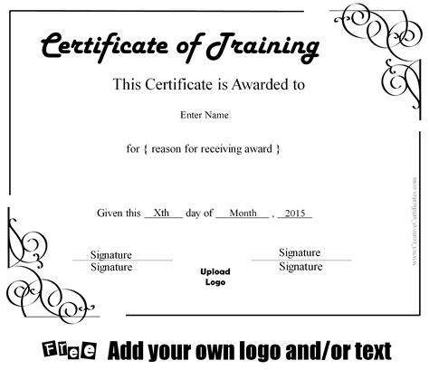 beautiful training certificate templates ideas resume ideas
