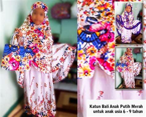 Katun Bali mukena anak katun bali putih merah rumahtaziek mukena bordir tasikmalaya